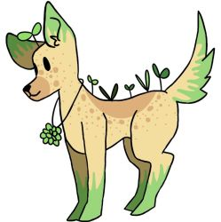 plant dog adopt (closed) by hesitantHeroine