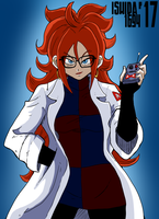 Android 21 - Bad Red Button by Ishida1694