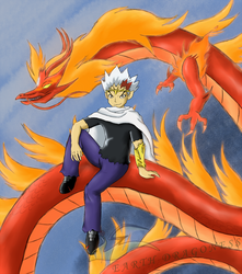 Ryuga with L-Drago - Commission by Beagon