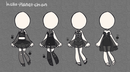 [outfit set] - cthonicsquid [14] by hello-planet-chan