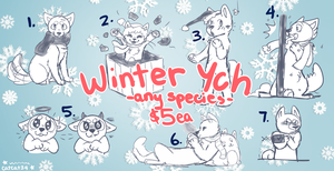 Winter/Holiday YCH -open!- by doodlepawss