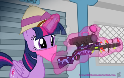 Twilight Sparkle With TF2 Sniper Cosmetic by ahmadridhwan