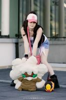 Touko, Whimsicott and Tepig - Pokemon cosplay