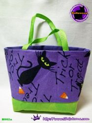 Handmade Tiny Tote bag Featuring Black cat by SKGaleana