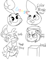 Character doodles by marnoandcass