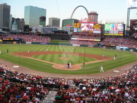 Cardinals Game in Daylight by bitsy-bee-33