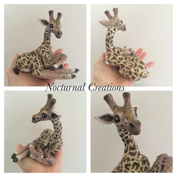Baby Giraffe Business Card Holder by NocturnalCreations-x