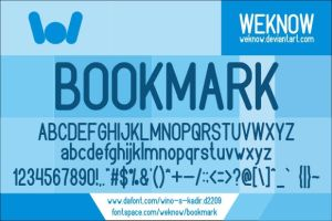 bookmark font by weknow by weknow
