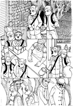 Issue 2: Page 1 inked by Benjamin-the-Fox