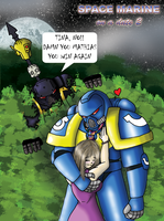 Space Marine on a Date 2 Clr by mattwilson83