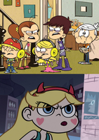Star Butterfly mad at Loud House's infighting by MarcosPower1996