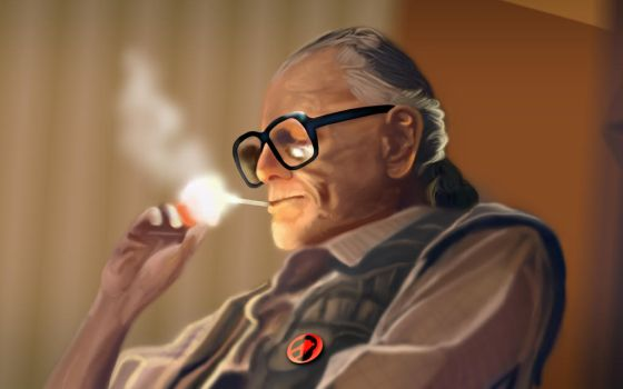 George A. Romero by Hatedesigns