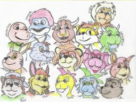 Friends colored by Halfshell