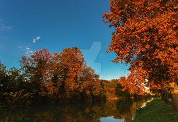 Autumn on the river by uzi
