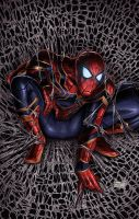 Spiderman- Iron Spider by SamDelaTorre