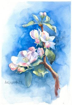 Blooming apple tree by lazygirl-29