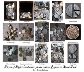 Pieces of Eight Resource Stock by UniqueNudes