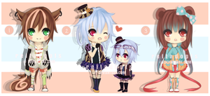 [CLOSED] Chibi Adoptable Batch by reitadopts