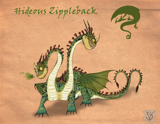 Hideous Zippleback species by SenterVeris