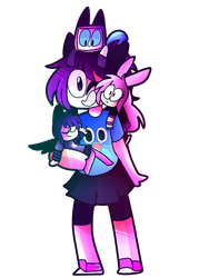 Me and my ocs by PregiArts