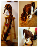 Aerith wig commission by maggifan