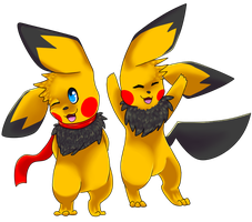 Gift for JDMcerealguytuner - Takaba Twins by pikachu-jaune