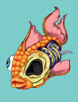 Zombie goldfish v.1 by meep-buster