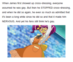James is NOT gay by KateVunza