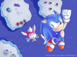 Sonic and Chip in Holoska by Ipun