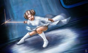 Leia, with the Force. by Gizmoatwork