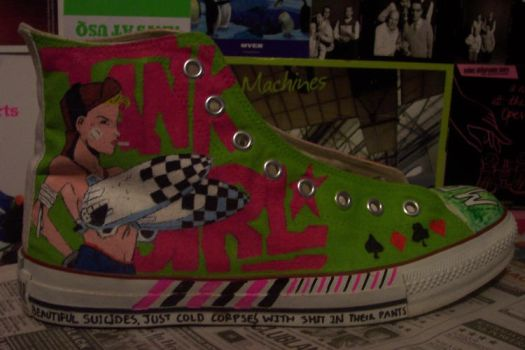 Tank Girl Converse by antisocial-climber