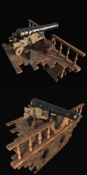 Old cannon by Nikola3D