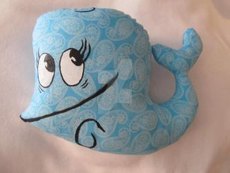 Bubby the Whale throw pillow stuffed animal by LetsAllBeNuerotic