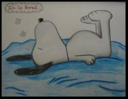 Snoopy so Bored by pikab2001