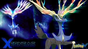 Pokemon X: Xerneas Wallpaper by piplupwater