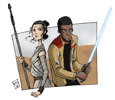 Finn and Rey by RecsFX