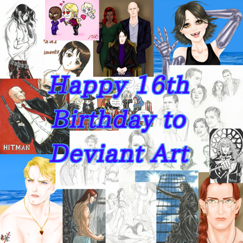 Happy 16th Birthday to Deviant Art by CarmaTower