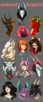 Headshot Requests by MilenaHide