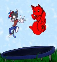 Day on a Trampoline by Dragon-of-DC
