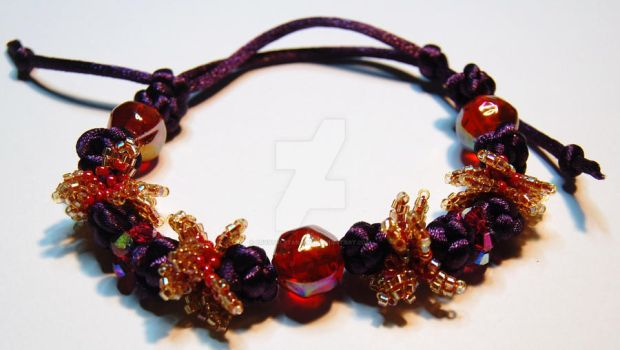 Satin Cord Bracelet by crystalstargems