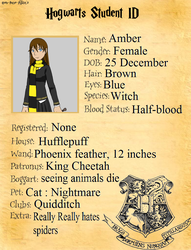 my hogwarts student ID by Amber11eevee
