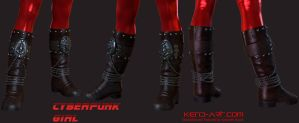 Cyberpunk Girl Boots by kdoyle9