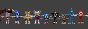 Sonic Forces: Speed Battle - All models by Detexki99