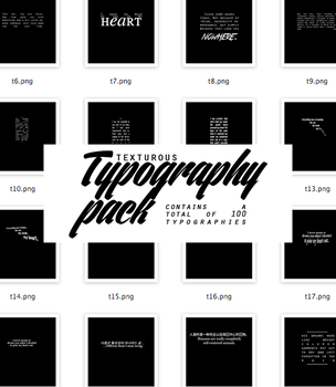 Texturous Typography Pack by texturous