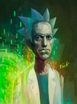 RICK SANCHEZ (Rick and Morty) by javierGpacheco