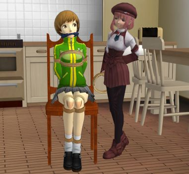 Chie The Babysitter by KoriDiD