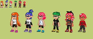 inkling splatoon 1 and 2, octoling by alexmauricio407