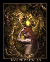 Tarot-Five of Pentacles by wintersmagic