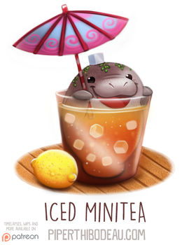 Daily Paint 1586. Iced Minitea by Cryptid-Creations