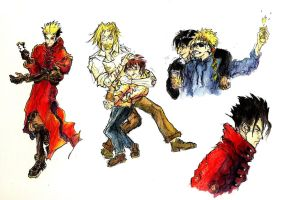 Trigun Maximum Sketches by JasperK-StoneKing